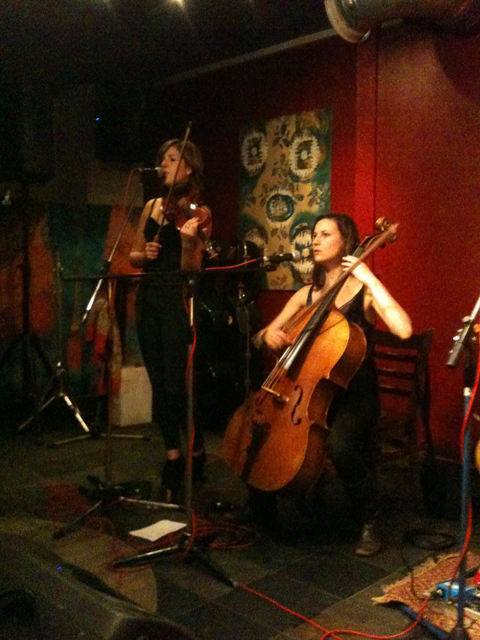 Emily Barker & The Red Clay Halo [L-R]: Anna Jenkins, Jo Silverston, Strongroom Bar, 27 June 2012