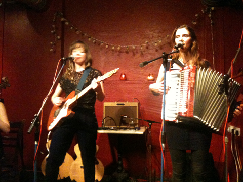 Emily Barker & The Red Clay Halo [L-R]: Emily Barker, Gill Sandell, Strongroom Bar, 27 June 2012