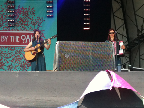 [L-R:] Emily Barker and Gill Sandell - Folk By The Oak, 22 July 2012