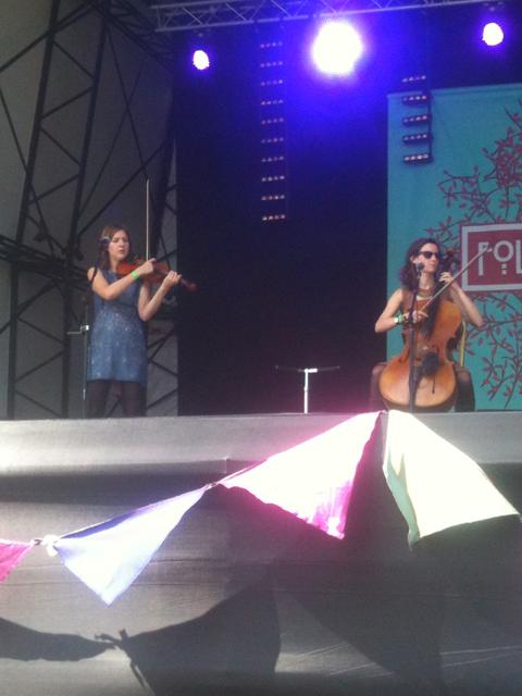 [L-R:] Anna Jenkins and Jo Silverston - Folk By The Oak, 22 July 2012