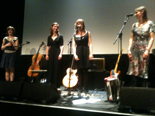 Left to right: Anna Jenkins, Jo Silverdale, Emily Barker, Gill Sandell