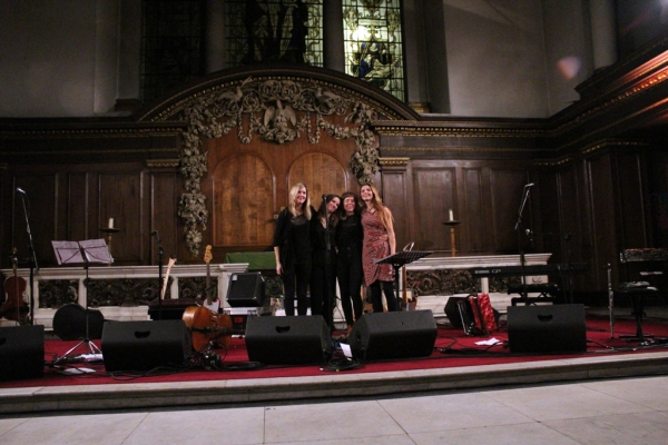 Photo of Emily Barker & The Red Clay Halo at St James's Church © 2014 by J. Halliday